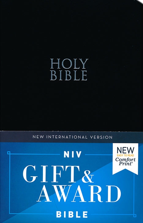 NIV Gift & Award Bible Comfort Print, Black