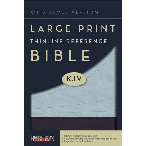 KJV Thinline Large Print Reference Bible - Chocolate/Blue Flexisoft
