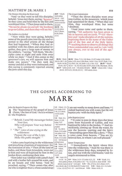 NKJV Cambridge Pitt Minion Reference Bible Black Goatskin