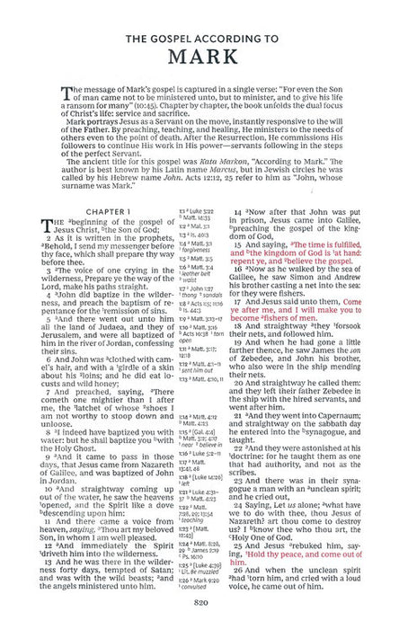 KJV Thinline Deluxe Reference Bible, Black Leathersoft