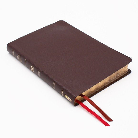 NASB Thinline Large Print Bible - Burgundy Bonded Leather