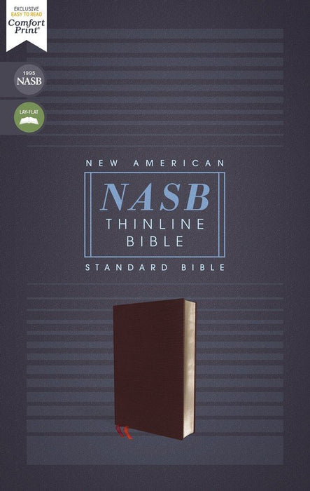 NASB Thinline Bible - Burgundy Bonded Leather