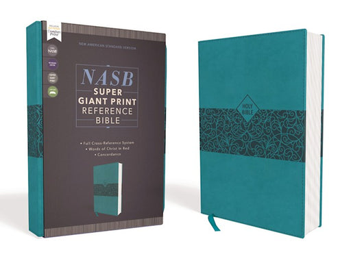 NASB Super Giant Print Reference Bible Teal Leathersoft
