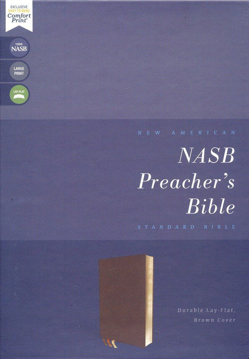 NASB Preacher's Bible Brown Leathersoft