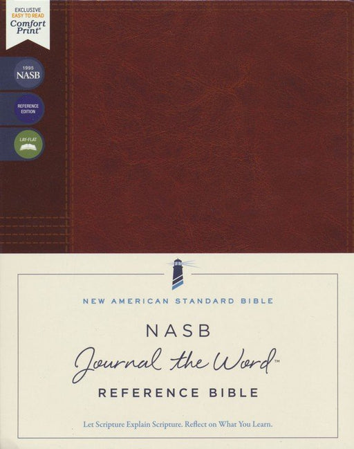 NASB Journal the Word Reference Bible Brown Leathersoft over board