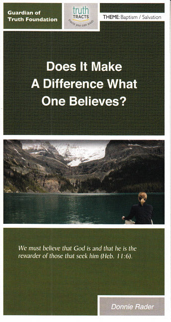 Does It Make A Difference What One Believes?