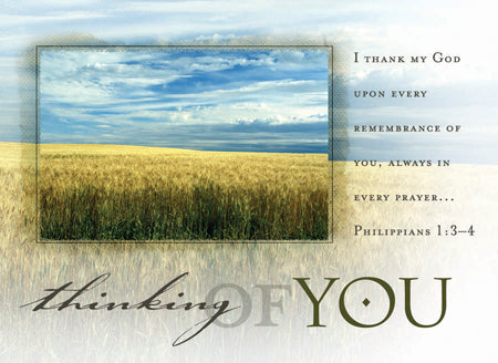 Postcard Thinking of You (Phil 1:3-4)