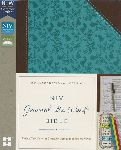 NIV Journal the Word Bible Chocolate/Turquoise Leathersoft