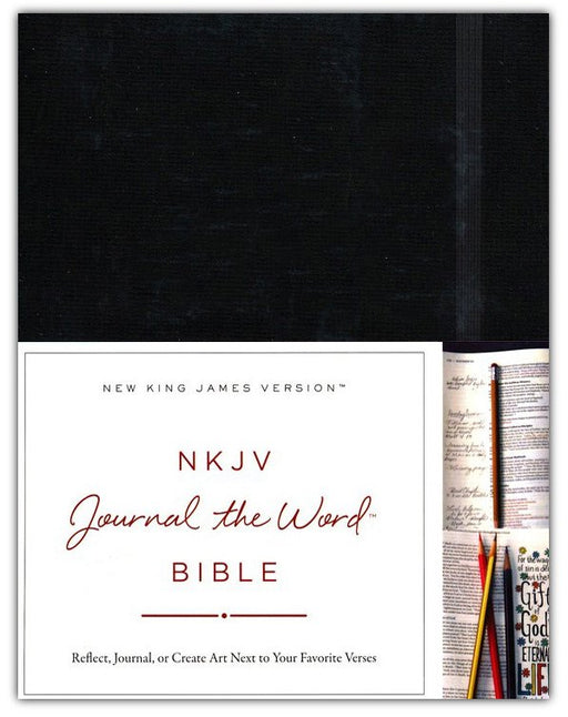 NKJV Journal the Word Bible Large Print Black Hardback