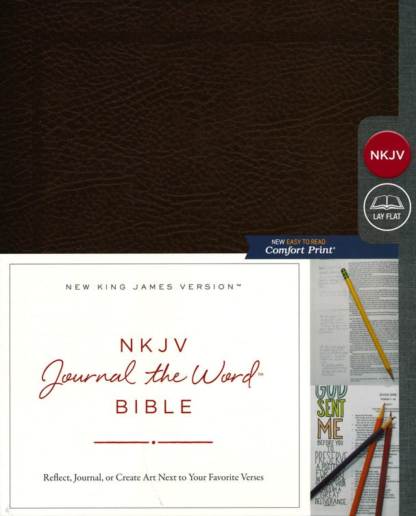 NKJV Journal the Word Bible Brown Bonded