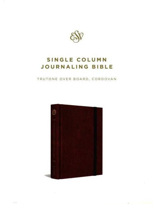 ESV Single Column Journaling Bible Cordovan TruTone over Board