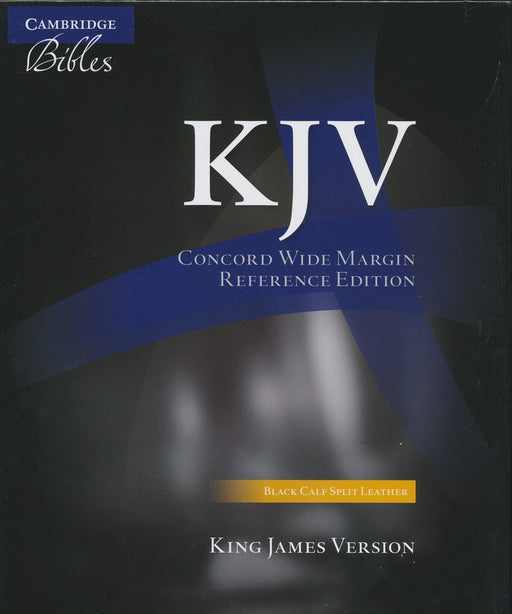 KJV Concord Wide Margin Reference Bible Black Calfsplit Leather