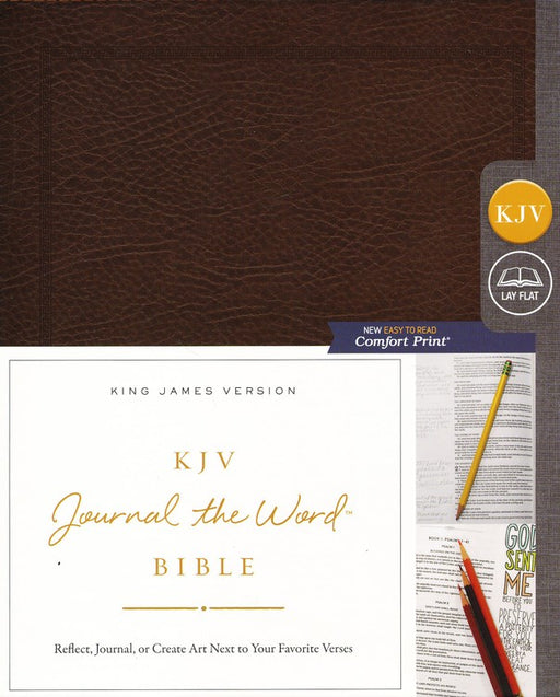 KJV Journal the Word Bible Brown Bonded