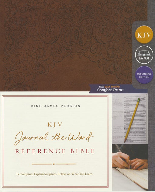 KJV Journal the Word Reference Bible Brown Leathersoft