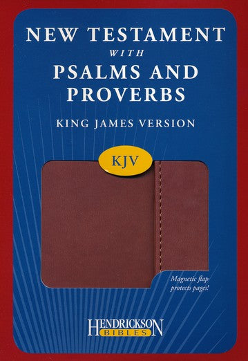 KJV New Testament Bible with Psalms and Proverbs Expresso Flexisoft with Magnetic Flap closure