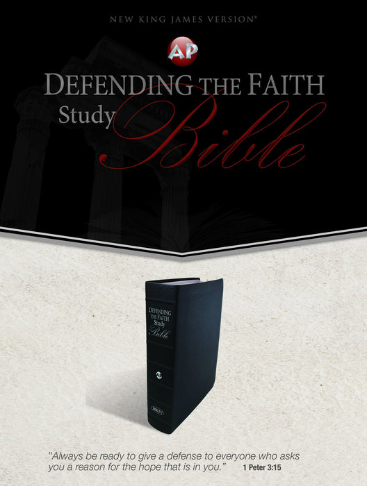 NKJV Defending the Faith Study Bible - Black Genuine Leather