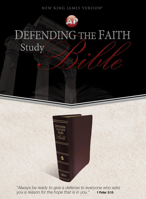 NKJV Defending the Faith Study Bible,  Maroon Duotone