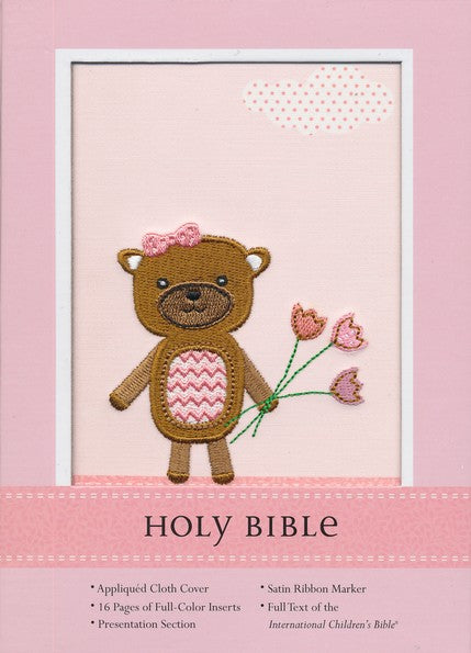ICB Pink Baby Bear Bible