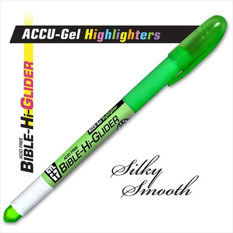 Accu-Gel Bible Hi-Glider Highlighter, Green