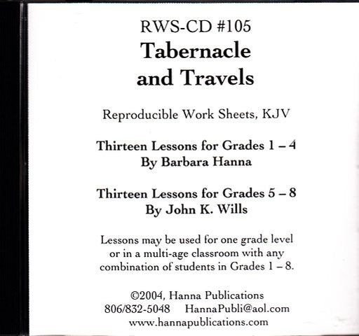 Tabernacle and Travels OT Bible Lessons CD