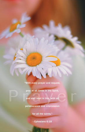 Postcard Prayer Bouquet (Eph. 6:18)