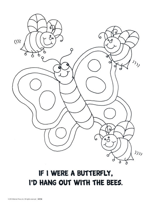 If I Were a Butterfly Coloring Book
