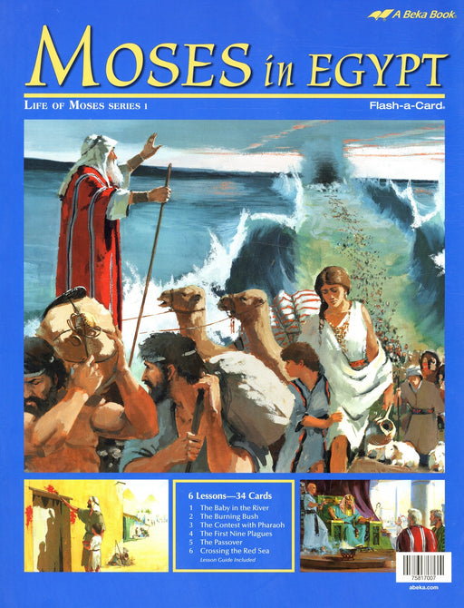 Moses in Egypt (Life of Moses Series 1)  Abeka Flash-A-Card