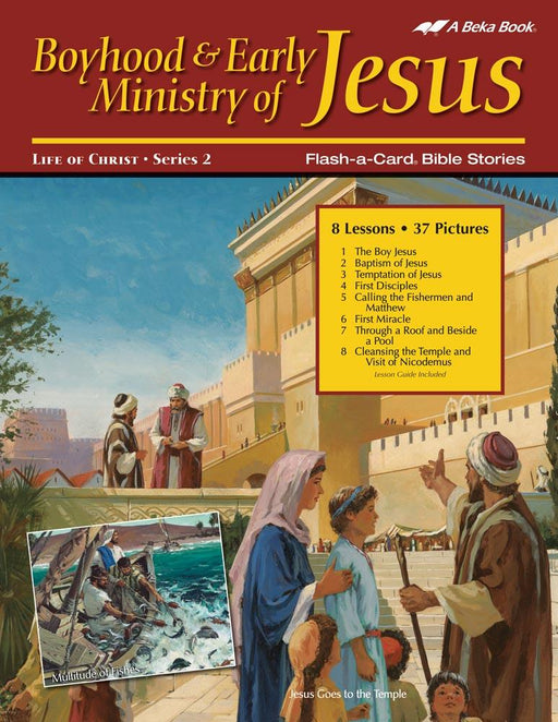 Boyhood and Early Ministry of Jesus Flash-A-Card Bible Stories - Book Format