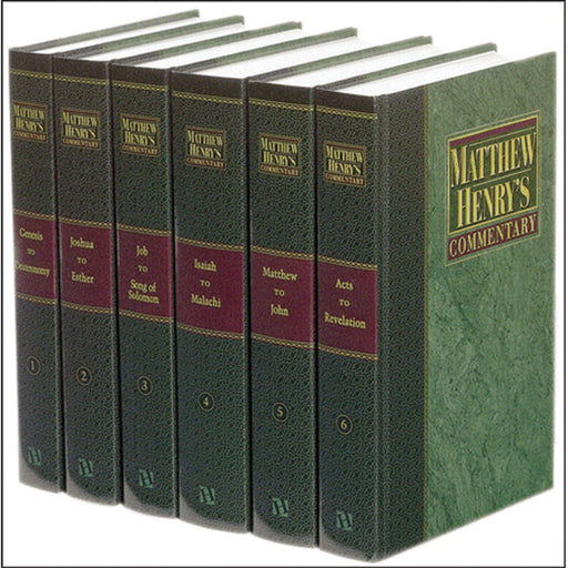 Matthew Henry's 6-Vol. Commentary on the Whole Bible