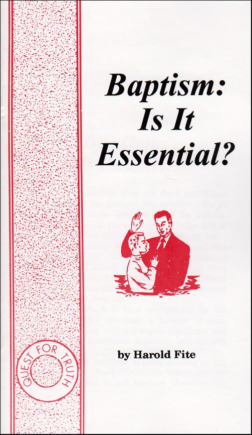 Baptism: Is It Essential?