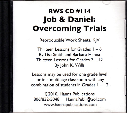 Job & Daniel: Overcoming Trials CD