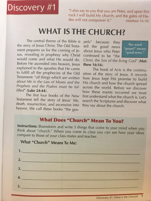 Discovering the Early Church:  Acts Part 1 (Teen/Adult 1:1)