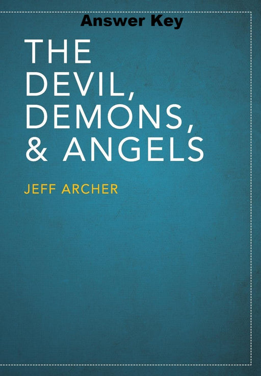 The Devil, Demons, and Angels - Downloadable Answer Key PDF