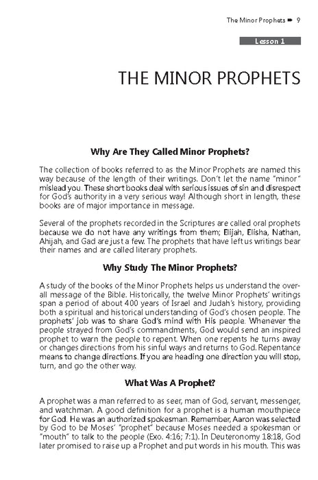 Minor Prophets (Faith Builder Series, 6:4) - Downloadable Single User PDF