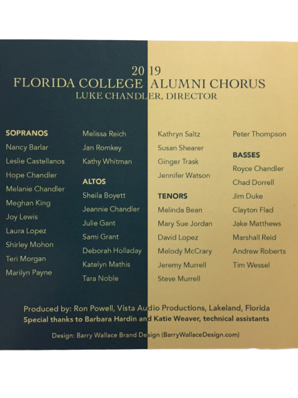 FC Alumni Chorus 2019 - Highest Hope CD