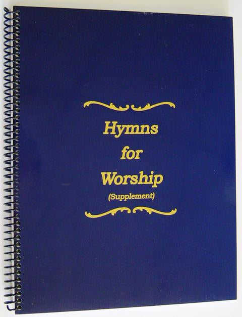 Hymns for Worship Supplement Hymnal - Spiral Bound Large Print