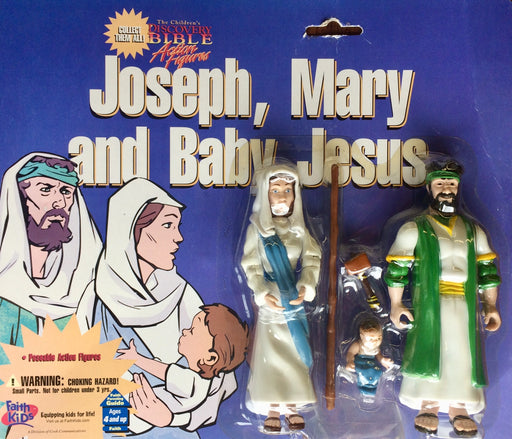 Joseph, Mary, and Baby Jesus Action Figures