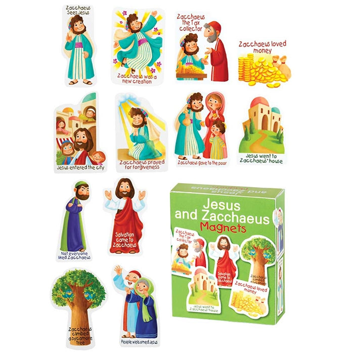 Jesus and Zacchaeus Bible Story Magnets