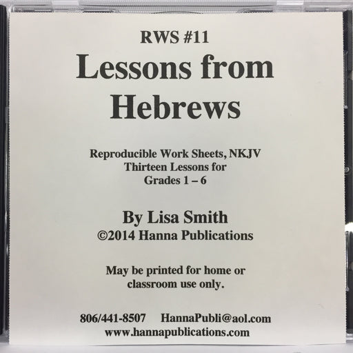 Lessons From Hebrews CD