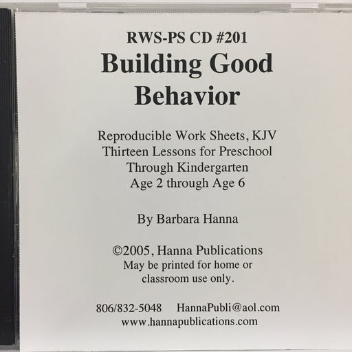 Building Good Behavior CD