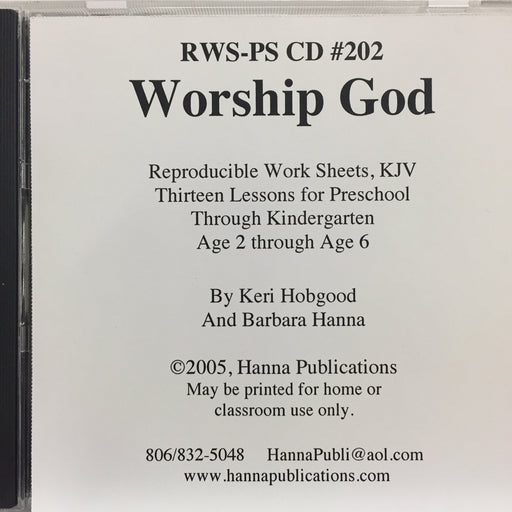 Worship God CD
