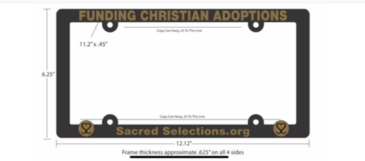 Sacred Selections License Plate Cover - Black