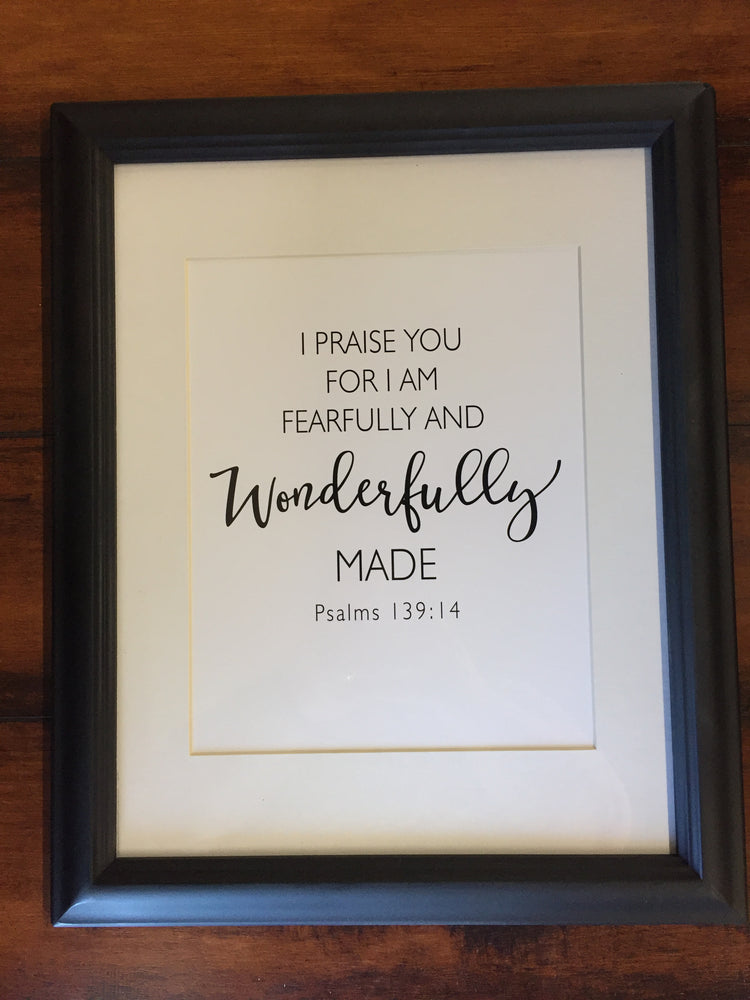 Sacred Selections Framed Print: Wonderfully Made