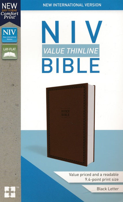 NIV Value Thinline Bible Brown