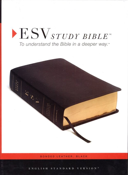 ESV Study Bible - Black Bonded Leather