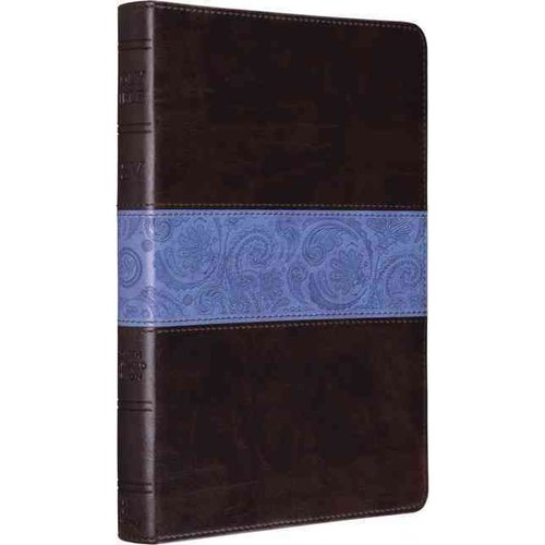 ESV Thinline Bible Trutone Chocolate/Blue Paisley Band