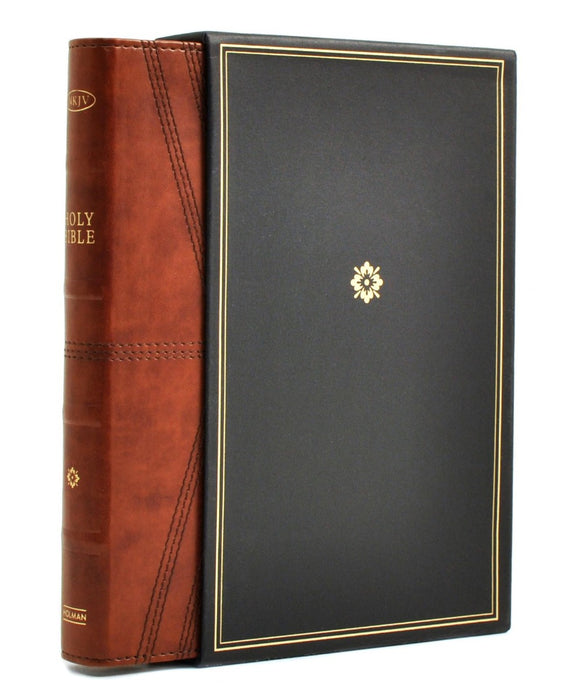 NKJV Deluxe Ultrathin Reference Bible Brown LeatherTouch Indexed