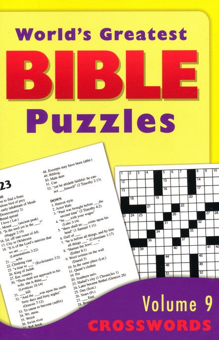 World's Greatest Bible Puzzles Vol. 9 - Crosswords