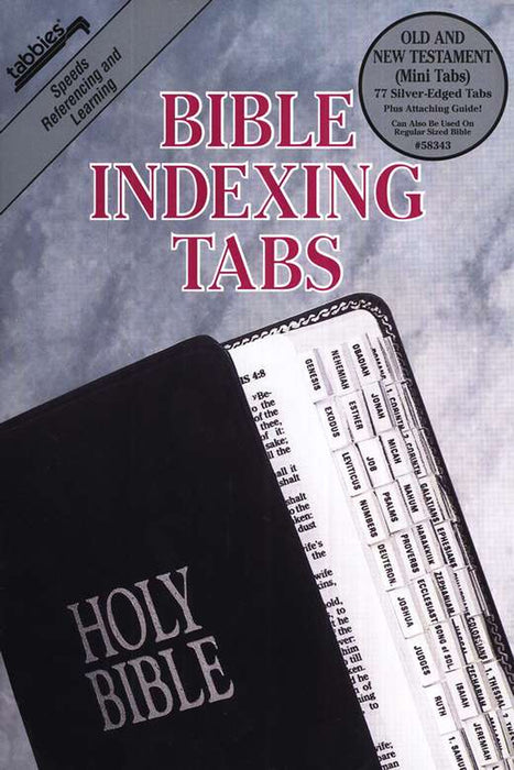 Tabbies OT/NT Mini Silver Bible Indexing Tabs