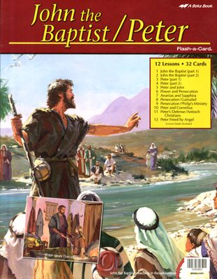 John the Baptist/Peter - A Beka Flash-A-Cards